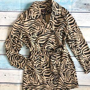 Dana Buchman Animal Print Coat